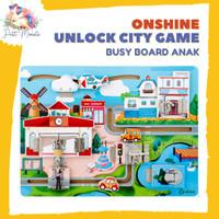 ONSHINE Unlock City Game - Logic Busy Board Puzzle - Mainan Edukasi