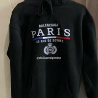 Balenciaga Paris Embroidered Hoodie God Version