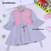 Dress Sissy 1-2 Tahun / Dres Anak Lengan Panjang 3/4 Baju Blouse