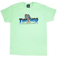 Kaos Thrasher Leopard Mag Mint - S