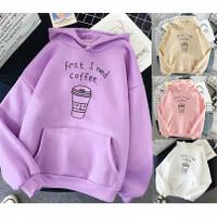 Sweater Atasan Hoodie Wanita First I Need Coffee | Korea style33