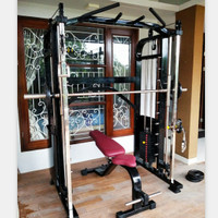 Fitness Smith Machine Cablecrossover/Cable Crossover + Bangku Pabrik