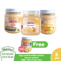 Heinz Paket Egg, Vanilla & Banana Custard 110G - 3 Pcs FREE 1