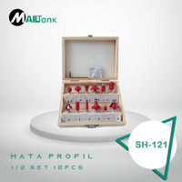 MAILTANK MATA PROFIL KECIL I/4 SET 12 PCS ROUTER BIT SET mata ukir ka