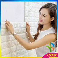 RB-C55-58 Wallpaper Dinding 3D Wall Sticker Foam Batu Bata Walpaper