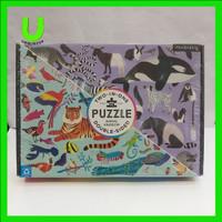 Animal Kingdom 100 Piece Double-Sided Puzzle