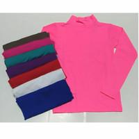 Manset Turtleneck Anak Perempuan Tangan Panjang (size S)-Bahan jersey