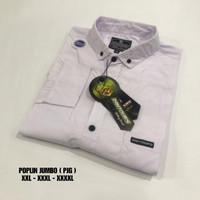 Baju Kemeja Polos Katun Kerja Kantor Formal Lengan Panjang Pria - art9, XXL