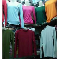 Manset Wanita Rayon Jumbo Baju Kaos Daleman XL - Hitam, XS
