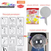 Balon bobo Transparan 24 inch | Balon PVC Bening Jumbo