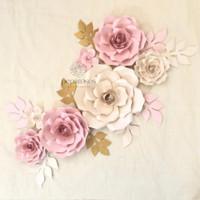 Backdrop Bunga Kertas Dekorasi - Paper Flower Backdrop Set B(Peparoses