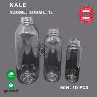 Botol KALE 1L 500 ml 250 ml Bahan PET Botol Minuman/Botol Kopi/Botol J