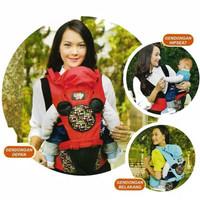 Baby Joy BJG3025 Gendongan Bayi Depan Hipseat Millie Series / HIP SEAT - Merah