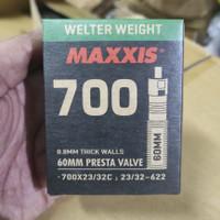 BAN DALAM SEPEDA MAXXIS 700c UKURAN 700x23 BISA SAMPAI 700x32 PRESTA