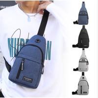 TS161 Tas Selempang Pria Casual Leusure Men Sling Chest Bag