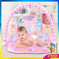RB-M15-16 Baby Play Gym Mainan Anak Bayi Rattle & Piano Playmat Matras