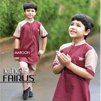 Baju Pakaian Muslim Anak Cowok Laki-laki Set Koko Fairus Usia 8 9 10 T