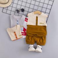 Baju Anak Laki Laki Import Tanpa Lengan 1-3 tahun Baju Bayi 6-12 Bulan