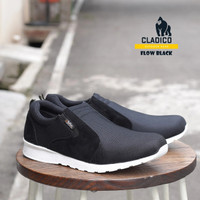 Sepatu Pria Slop Sport Running Mesh Suede Cladico Flow Terbaru