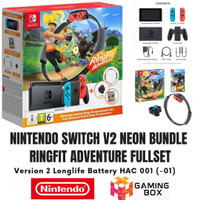 Nintendo Switch V2 Neon Hac 001 01 Bundle Ring Fit Adventure Ringfit