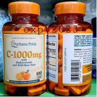 Puritan Pride Vitamin C 1000mg With Bioflavonoids 100 tablet