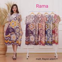 daster batik rama kencana ungu baju tidur jumbo baju hamil / menyusui