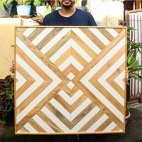 Hiasan Dinding Kayu Geometri / Geometric Wood Wall Art / Custom