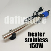 Heater Stainless 150W Sakkai Pro Penghangat Air Akuarium