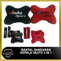Bantal Sandaran Leher Kepala Jok Mobil VAUTO 2 in 1