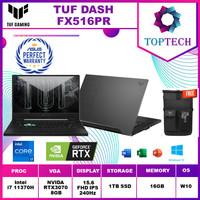ASUS TUF DASH F15 FX516PR 240Hz i7-11370H 16GB 1TB RTX3070 8GB W10+OHS