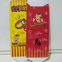 Dus Kebab Color Full Kecil - Kardus Kebab 50 pc- Packaging Kebab Kecil