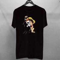 Kaos Pria Distro Luffy Skull OP095 Fashion Pria Baju Pria
