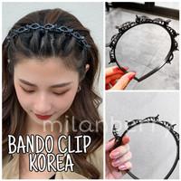 BANDO CLIP KOREA / AKSESORIS WANITA IMPOR FASHION / JEPIT RAMBUT PONI