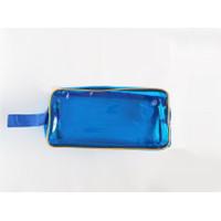 Tas Transparan Kotak Pensil Pouch bag travel souvernir 1/2 Lusin 6 pcs - Biru