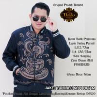 Jaket Bomber kopi hitam Batik solo pria Dewo Rp 185.000