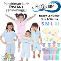 Floswim baju renang mengapung anak S M L XL 1 2 3 4 5 6 7 8 9 tahun