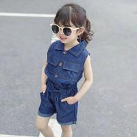 Megkid Baju Pakaian Setelan stelan Anak Perempuan Import Korea Terbaru