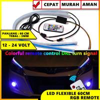 LED SLIM ALIS LED FLEXIBLE 60 CM DRL FLEKSIBLE 60CM RGB + REMOTE SIGN