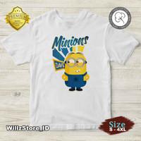 KAOS New Minions (Despicable Me) v6 | 100% Cotton 30s | Size S - 4XL - Putih, S