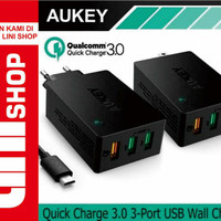 CHARGER AUKEY PA-T14 QC3.0 POWER ALL 3 PORT USB WALL CHARGER