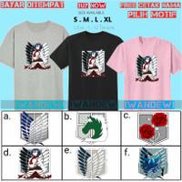 Kaos anak Attack on Titan/baju Scout Legion Snk Anak-Free nama - S