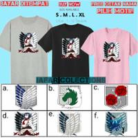 Kaos Anak Attack on Titan snk/Baju anak Scout Legion anak-Free nama