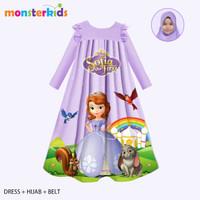 Gamis Sofia Anak Perempuan 5 - 13 Tahun . Baju Muslim Karakter . KM-29