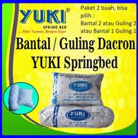 paket SEPASANG Bantal dan Guling Dacron Yuki Asli