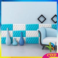 RB-C119 Wallpaper 3D Foam Headboard Bed Wall Stiker Wallfoam Dinding