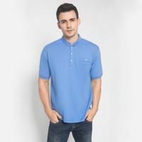 LGS - Kaos Casual - Stand Collar - Biru - Regular Fit - M2821.01.C - S