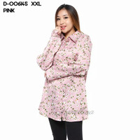 15B - 006145 Baju Blouse Monalisa XXL Jumbo Kerja Murah Wanita - Pink, XXL