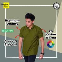 Kaos Polo Polos Pria Polo Shirt Pria Baju Polo Pria Cowo ukuran S-XXXL - M