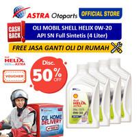 Ganti Oli Mobil di Rumah - Shell Helix Astra 4 Liter (Voucher)