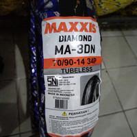 BAN MOTOR MATIC MAXXIS MA-3DN Ukuran 70/90-14 Tubeles